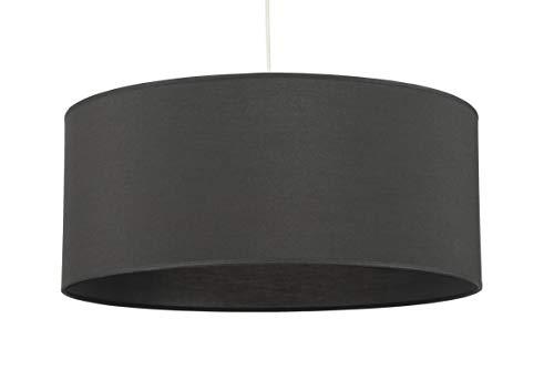 Rote Laterne Stoff (Lampenschirm des oberen Bugey, zum Aufhängen oder Aufstellen auf Tischleuchte oder Laterne, Stoff, Rot auf transparentem PVC anthrazit)