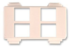 Keystone Wall Plate (KEYSTONE CARRIER, QUAD PORT 186-4P-W By LEVITON MANUFACTURING)