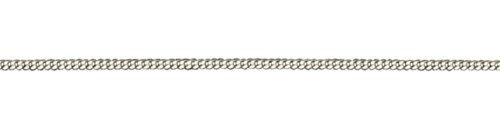 Platinum Small Diamond Cut Curb Chain Approx 5g 46cm