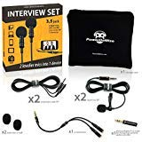 2 Lavalier Lapel Microphones Set for Dual Interview - Dual Lavalier Microphone - 2 Lavalier Microphone Set - Perfect as Blogging Vlogging Interview Microphone for iPhone 6, 7, 8, X -