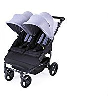 Baby Monsters Silla Gemelar Easy Twin Color Heather Grey + Textil Adicionalde Regalo en Otro Color