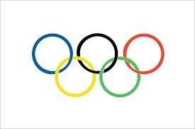 Olympisch Ringe 12.7cmx7.6cm(150cm x 90cm) Flagge (Olympische Ringe Flagge)