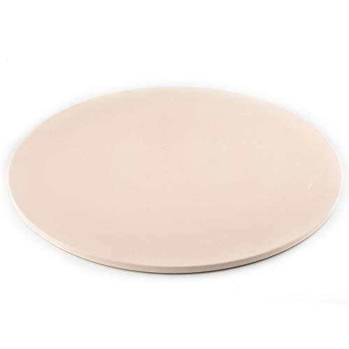 Way Pizzastein aus Cordierit, rund, 40 cm, für Grill oder Ofen, große Pizzas, Brot