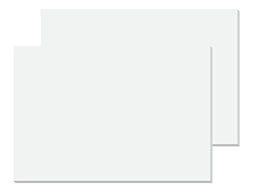 SIGEL HO300/2 weiße Papier-Schreibunterlage ca. DIN A2 - extra groß, 40 Blatt(!), Malblock 80g, 2er Pack