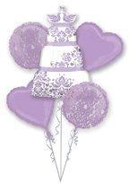 Anagram International Lilac Wedding Bouquet, Multicolor by Anagram International