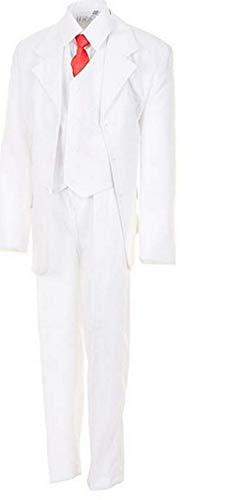 K&S Star Festlicher 5tlg. Jungen Anzug in Vielen Farben #18ws Weiss Gr. 10/128 / 134