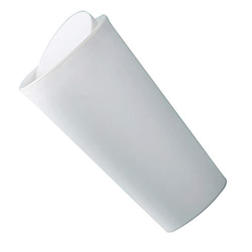 Desktop-Mini Abfalleimer Druckring schütteln Abdeckung Auto Lagerung Eimer Papierkorb Weiß 8.8 * 16.5cm ()