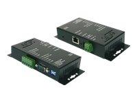 Exsys EX-6051 RS-422/485 auf Ethernet Data Gateway schwarz (D-sub-anschluss-block)