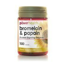 Power Health - Bromelain 10mg & Papain 100mg - 100s