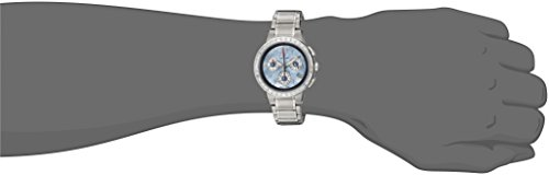 GROVANA-50949735-Unisex-Quartz-Swiss-Watch-with-Mother-Of-Pearl-Dial-Chronograph-Display-and-Silver-Stainless-Steel-Bracelet