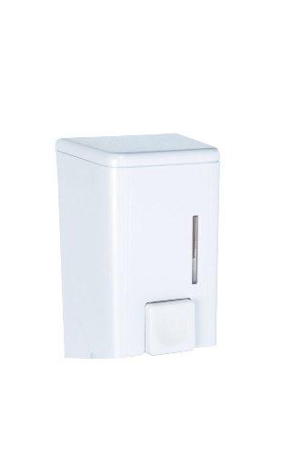 Wenko 18410100 Seifenspender Cremona Weiß - Flüssigseifen-Spender, Fassungsvermögen 0.5 L, Kunststoff, 10 x 16 x 8.5 cm, Weiß