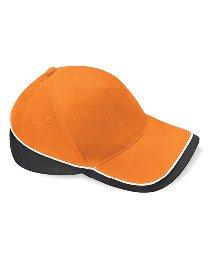 Beechfield B171 Teamwear Casquette de compétition Taille Unique Orange/Noir/Blanc