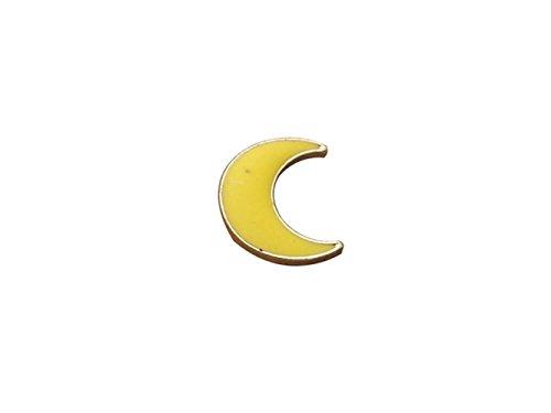 Elegant Womens Yellow Moon Förmigen Emaille Brosche Abzeichen für Kleidung Taschen Rucksäcke Anstecknadel für Geschenk