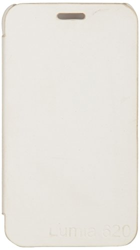 iCandy™ Synthetic Leather Flip Cover For Nokia Lumia 620 - WHITE  available at amazon for Rs.170