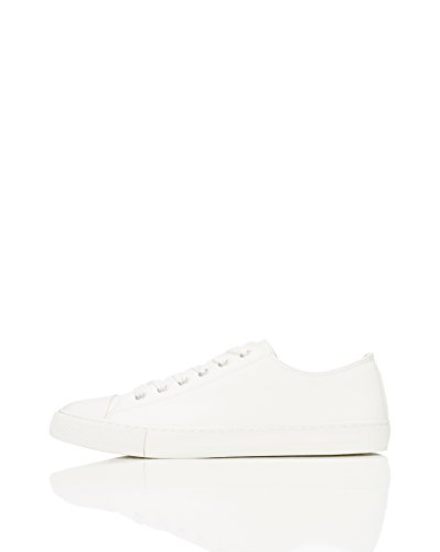FIND Damen Flache Sneaker, Weiß (White), 37 EU (4 UK)