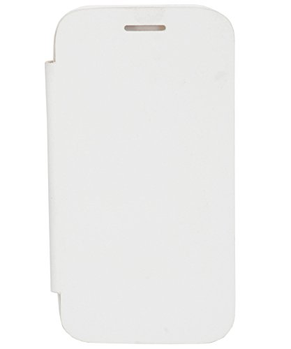 iCandy™ Synthetic Leather Flip Cover for Micromax Canvas 2 A110 - White