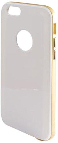 KSIX Hybrid-Schutzhülle für Apple iPhone 6/6,35 cm, Schwarz Weiß / Gold