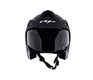 Vega Crux Half Face Helmet (Black, L)