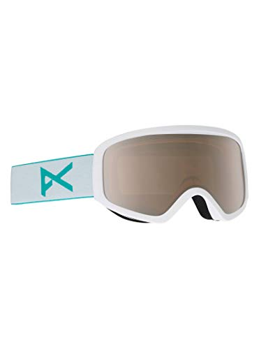 Anon Damen Insight with Spare Snowboardbrille, White/Silver Amber