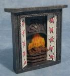 1:12 Scale Dolls House Miniatures Fireplace and Fire DF610 by STREETS AHEAD