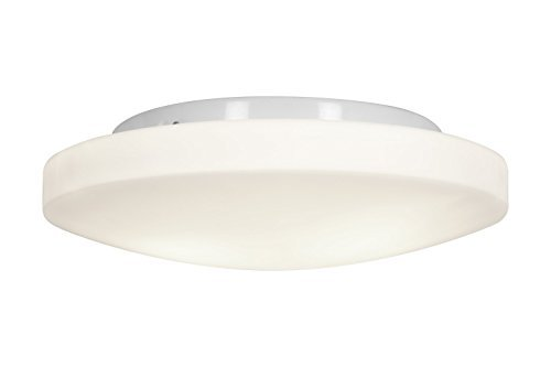 Access Lighting 50161LED-WH/OPL Orion LED Light 13-Inch Diameter Flush Mount with Opal Glass Shade, White Finish by Access Lighting Orion Mounts