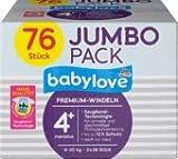 babylove Windeln Premium Größe 4+, maxiplus 9-20kg, Jumbo Pack 2x38 Stück, 1 x 76 St