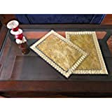 Maasha Table Mat For Dining Table Side Table Mats For Bedroom/ Living Room Dining Table Mats Set Of 6 Pieces Placemats For Dining Table In Laminated Design Best Anniversary Gifts Wedding Gift For Couple Home Decoration Items (Classy Plain Golden) - Set Of