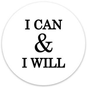 p, MacBook, mit englischer Aufschrift I Can & I Will inspirierend, 2 Stück ()
