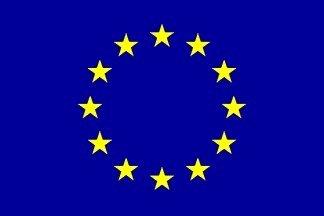 L'Union européenne en étoiles Bleu bateau et manches drapeau Maison - 45 cm x 30 cm