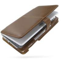 PDair Handarbeit Leder Hülle - Leather Book Case for Sony VAIO Type VGN-P Series (Brown)