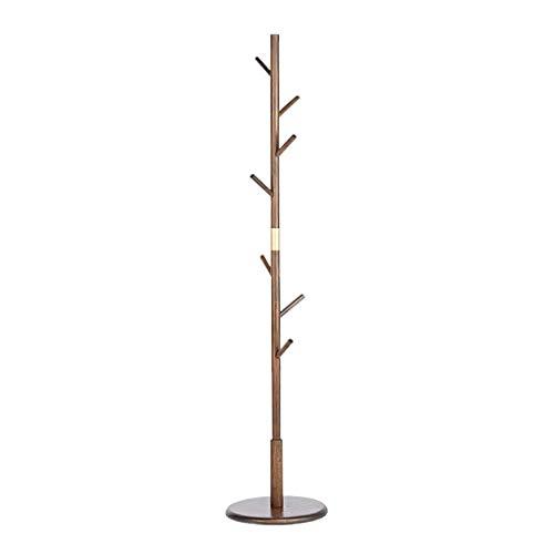 MUCR Garderobe Standing, Bamboo Coat Rack Einfache Single Pole Floor Schlafzimmer Kleiderbügel Wohnzimmer Veranda Kleiderbügel oO (Color : Walnut Color) - Standing Coat Rack