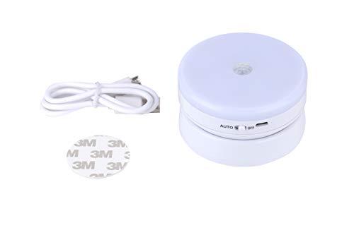 FExYinz Wireless ricaricabile LED Night Light Emisfero Sensore del corpo umano Luce notturna Luce bianca fredda 6000K Cabinet Luce Lampada da comodino Luce corridoio Luce portatile da strada
