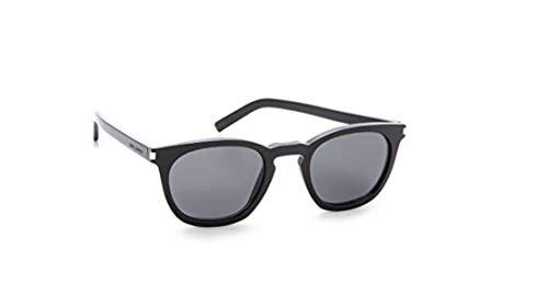 Yves saint laurent sl 28 807p9 occhiali da sole con lenti grigio scuro, (49x23x140 mm) made in france