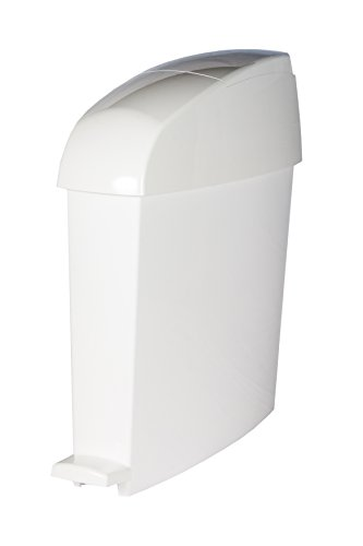 Rubbermaid MiniPed 12L Front Opening Pedal Operated Bin - White White Pedal Bin