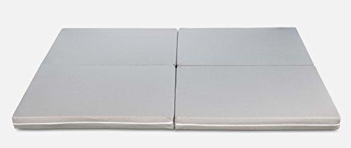 Evergreenweb–Futón Space Multifunción 3en 1- Puf colchón individual y matrimonial - Ahorra espacio - Plegable
