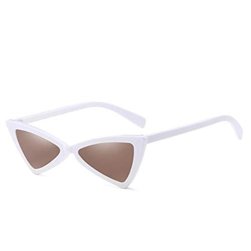 GJYANJING Sonnenbrille Niedliche Sexy Retro Cat Eye Sonnenbrille Frauen Kleine Schwarze Weiße Dreieck Vintage Billige Sonnenbrille Rot Weiblich Uv400