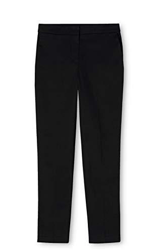 MERAKI Damen Gerade geschnittene Hose, Schwarz (Nero), 40 (Herstellergröße: Large)