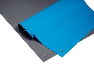 ESD Sitzbank 2-lagig blau mit 2 Nieten in gegenüberliegenden Ecken - Premium Qualität blau 2m x 0.6m -
