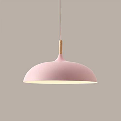 Modern Design Hängelampe Retro Rund Kronleuchter Holz Metall LED Pendellampe Innen 1-flammig E27 Deko Lampe für Restaurant Esszimmer Club...
