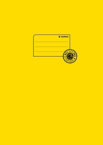 Herma 5521 Papier Heftumschlag DIN A4 aus 100% Altpapier, gelb, 1 Heftschoner für Schulhefte