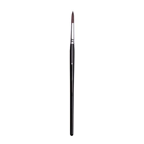 Eichhörnchen Haar Black Rod Candle Light Typ Aquarell Pinsel Rundkopf Gouache Ölgemälde Acryl Stift Wasserspeicherkapazität Starke 10 Modelle