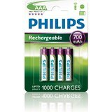 4 x Philips AAA Rechargeable Batteries 700mAh - Ideal For Gigaset Cordless Phones