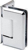 CRL Pinnacle 544 Series Chrome 5° Wall Mount Offset Back Plate Hinge by C.R. Laurence -