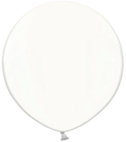 Belbal runde Luftballons, 60 cm groß, aus Latex, durchsichtig, für die Hochzeit, 2 Stück