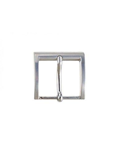 Fibbia per cinture nichel free anallergica 4 cm