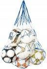 RHINOS sports Ballnetz für 10 Fußbälle Rot/Weiß