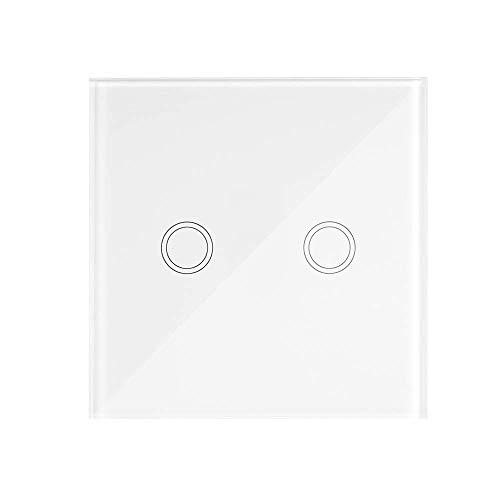 eWeLink Interruptor Tactil Pared, T433 86 Tipo 433MHz 2CH, Transmisor de Control...