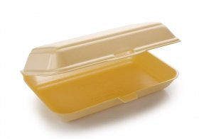 250 x HP3 / TT10 Polystyrene Takeaway Food Boxes   Fish Chips Burger   Catering