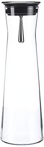 """Bohemia Cristal 093 006 103 SIMAX Karaffe ca. 1100 ml aus hitzebeständigem Borosilikatglas mit praktischem Ausgießer aus Edelstahl """"Indis"""""""