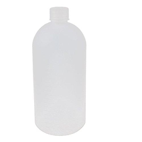 sourcingmap 1000ml2.2cm Mund Dia Weiß Plastik graduiert Labor chemikalienflasche Glasballon DE